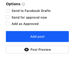 Option in post modal