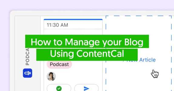 Manage your blog with ContentCal