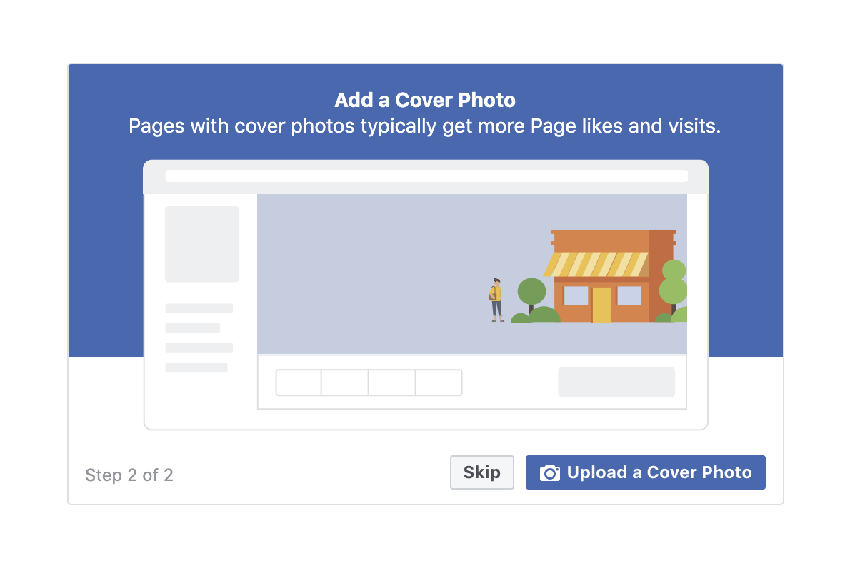 Add a cover photo Facebook