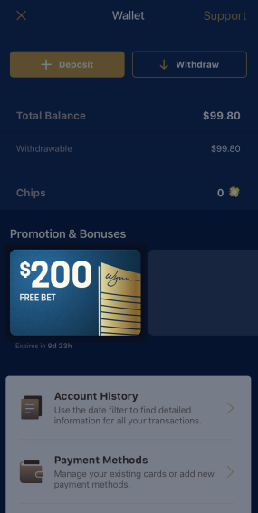 Win and receive winnings. Lose and get wager back as free bet.