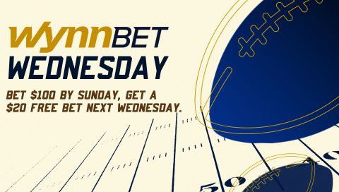 Bet $100+ on sports this week and get a $20 Free Bet on Wednesday