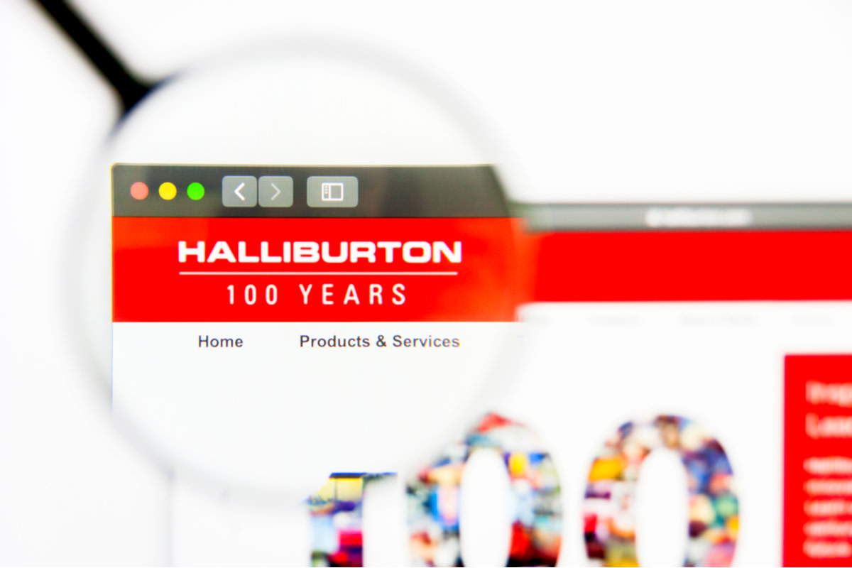 Illustrative Editorial of Halliburton website homepage