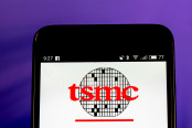 TSMC logo seen displayed on smart phone