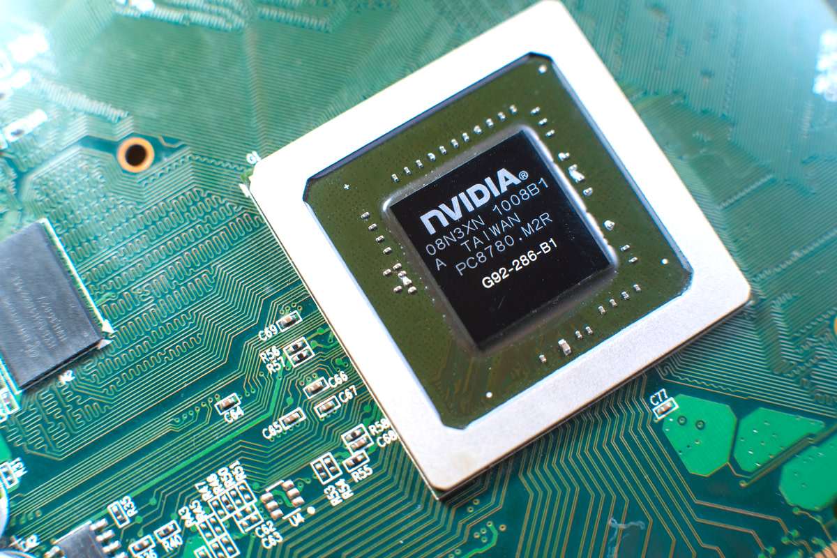 Nvidia graphic chip close up