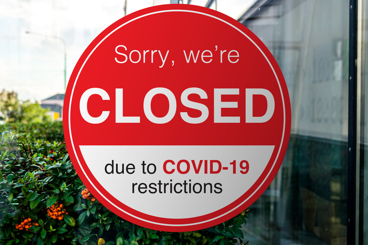 Shop, company, shopping centre closed due to COVID-19