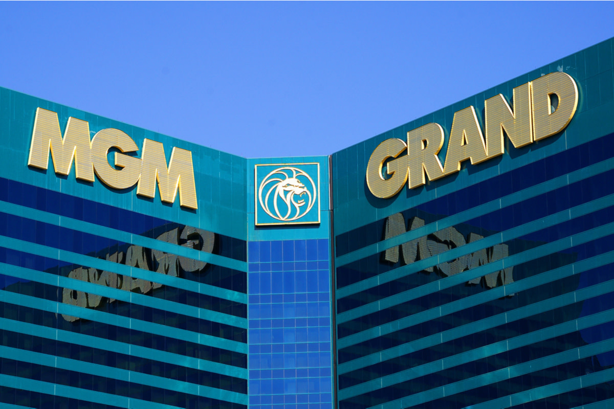 The MGM Grand Las Vegas Hotel & Casino sign