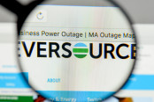 Eversource Energy logo on the website homepage
