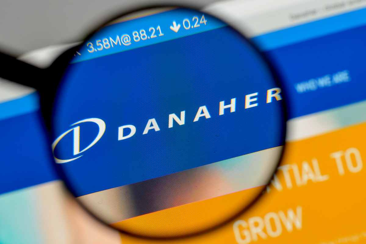 Danaher logo on the website