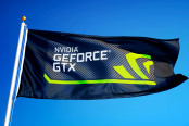 Nvidia GeForce GTX logo flag