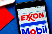 Exxon Mobil logo is seen displayed on a smartphone
