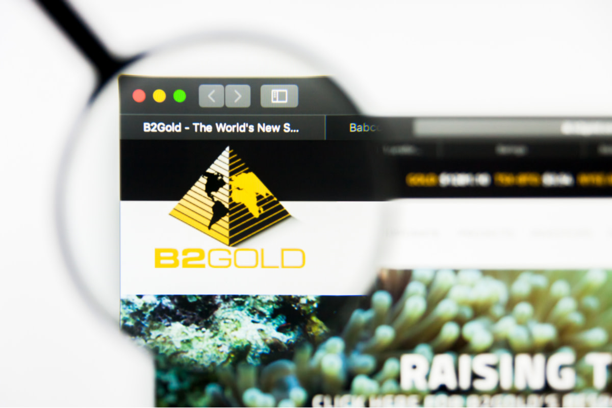 Illustrative Editorial of B2Gold Corp website homepage