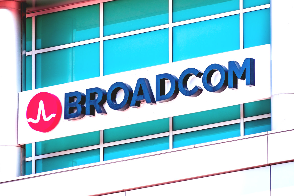 Broadcom sign at their offices in Silicon Valley