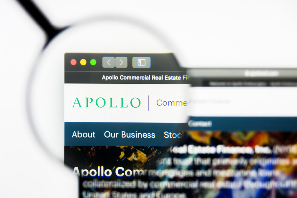 Illustrative Editorial of Apollo Commercial Real Estate Finance website homepage