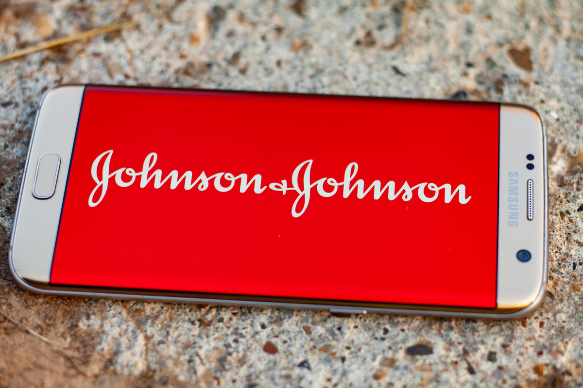 Johnson & Johnson logo on a white background
