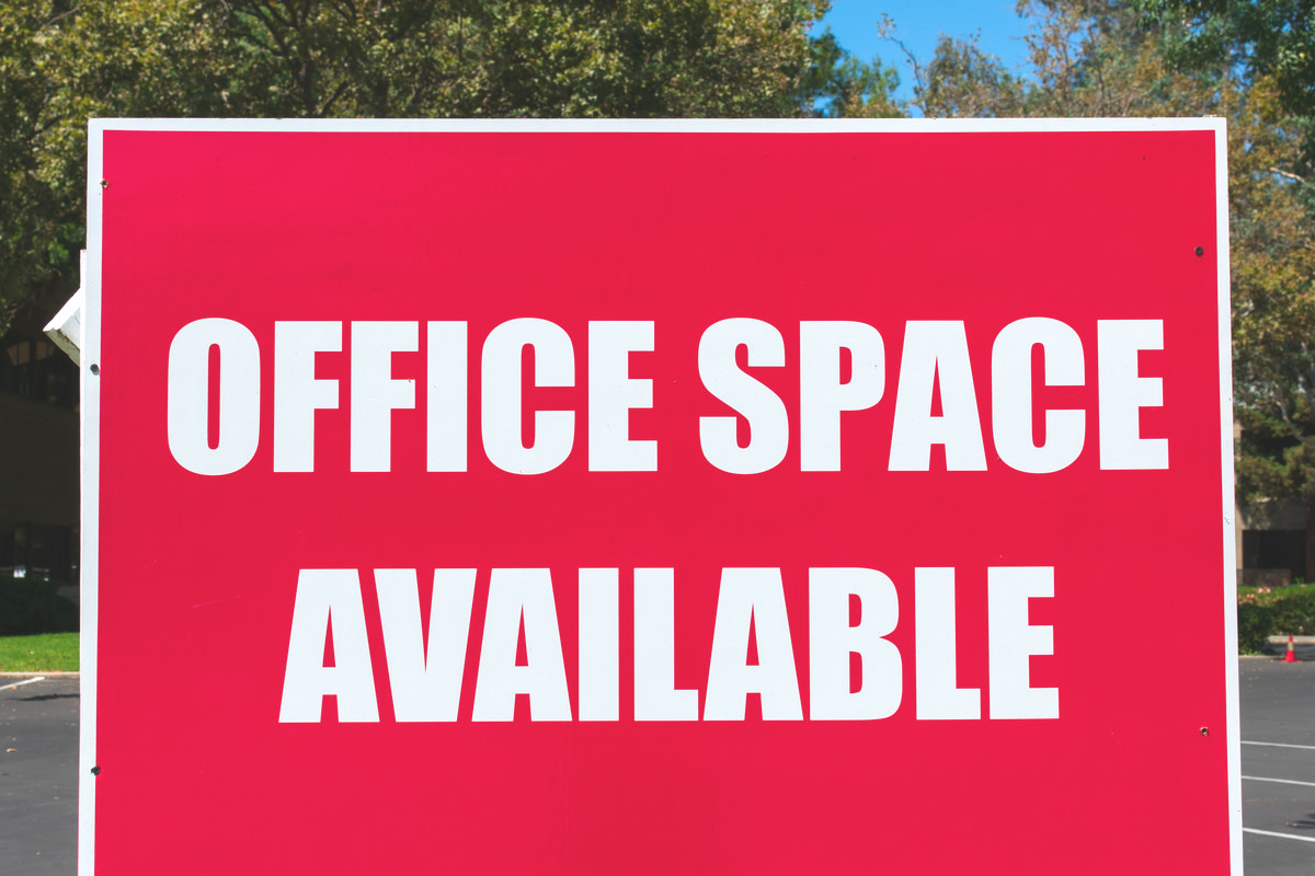 Office Space Available - large sign