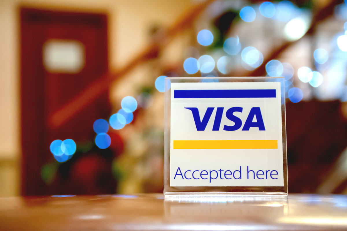 Visa sign in a hotel
