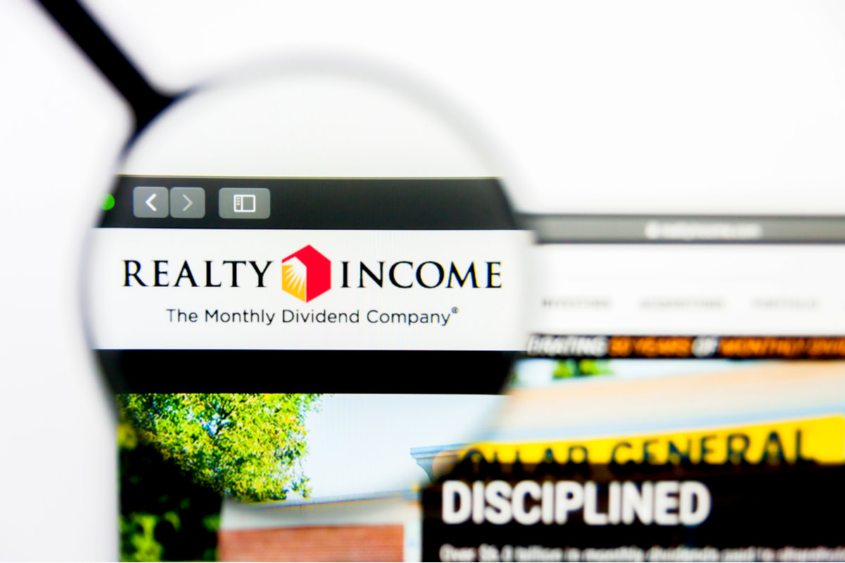 Illustrative Editorial of Realty Income website homepage