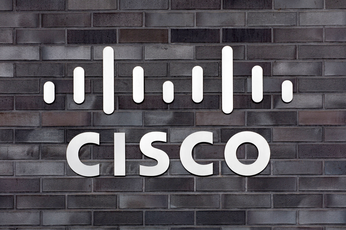 sign on the wall of the Cisco Systems