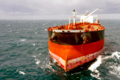 oil tanker in the high sea