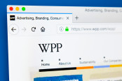 The homepage of the official website for WPP plc