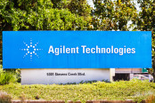 Agilent Technologies sign at their HQ