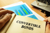 Book with page about convertible bonds