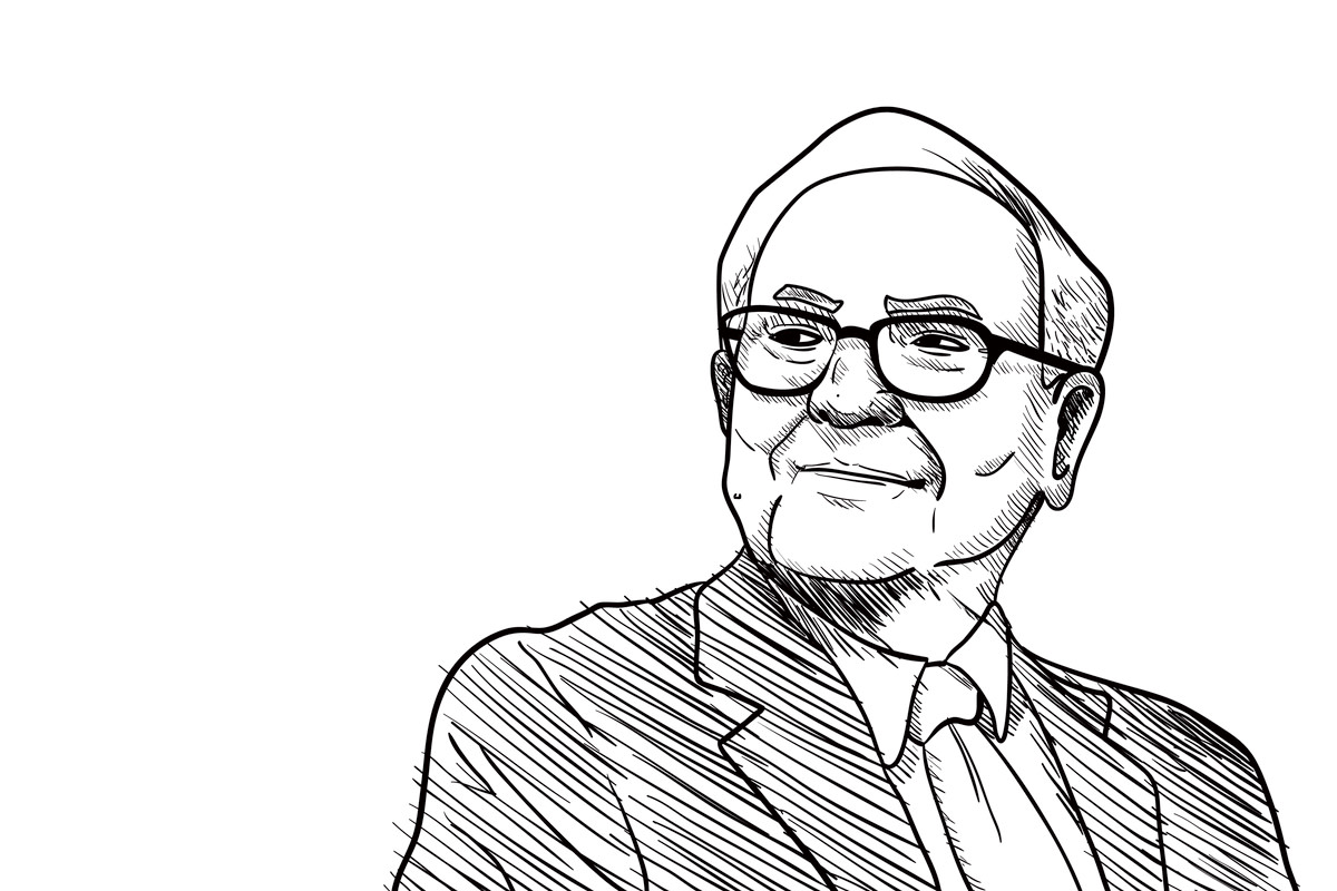 Warren Buffet Vector Illustration