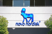 Novo Nordisk logo sign on Silicon Valley headquarters
