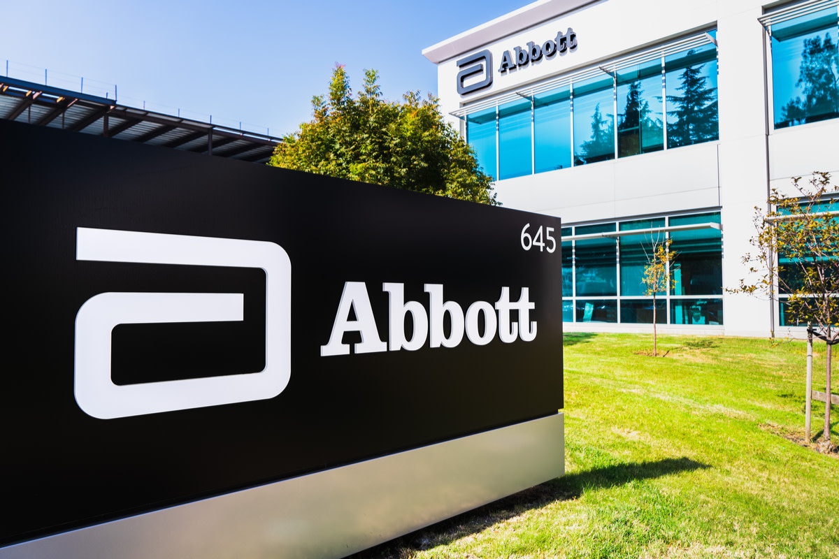 Close up of Abbott Laboratories sign at their headquarters in Silicon Valley