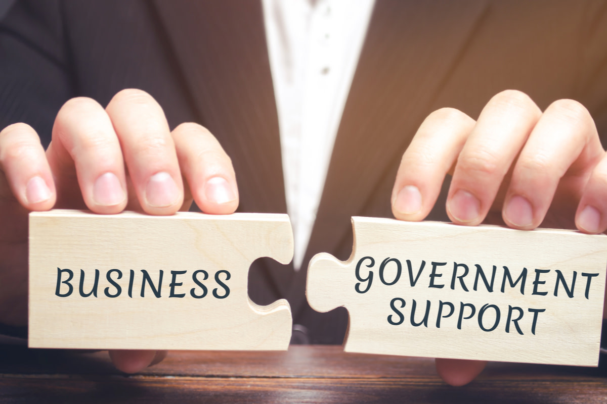 Concept of government support to local businesses
