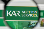 Kar Auction Services logo on the website homepage