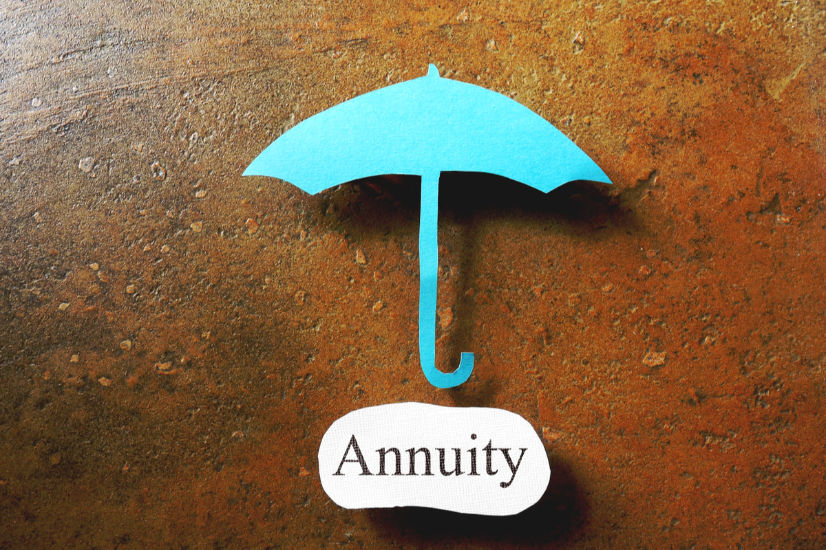 Paper umbrella over an Annuity message