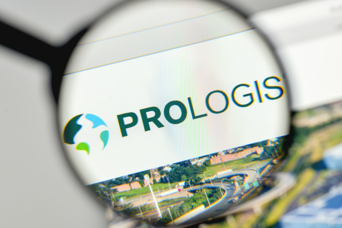 Prologis logo on the website homepage
