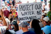 Protest to the Access Oil Pipeline in North Dakota