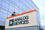 Analog Devices logo and sign at Silicon Valley campus