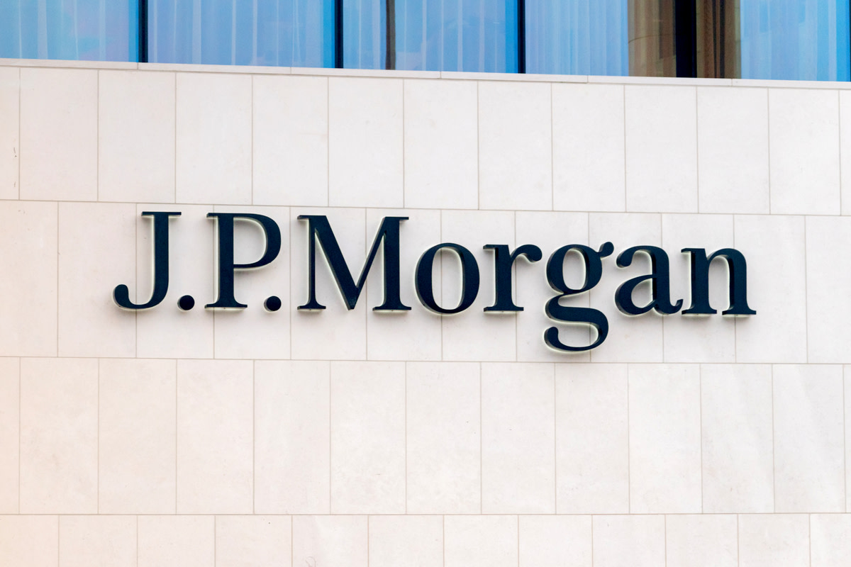 JP Morgan sign on the office building