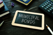 Municipal bonds written on the small blackboard