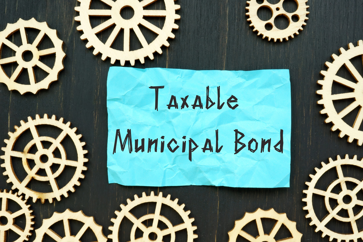Taxable Municipal Bond with inscription on the page