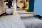 Modular carpet in office setup
