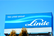 Company signboard Linde