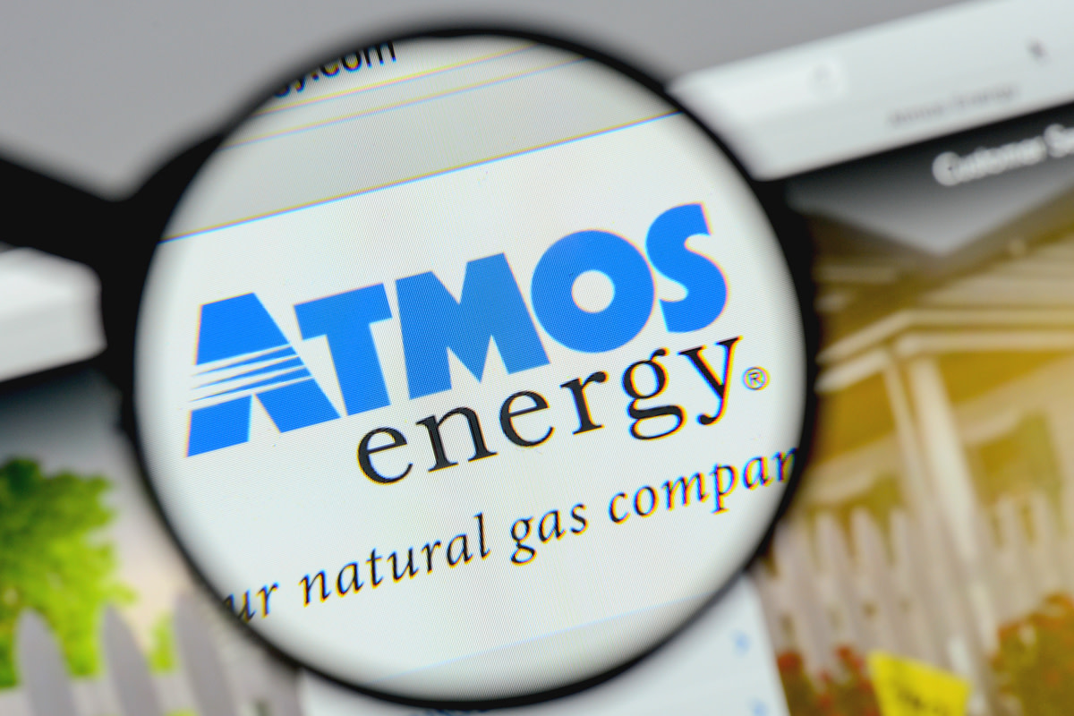 Atmos Energy logo on the website