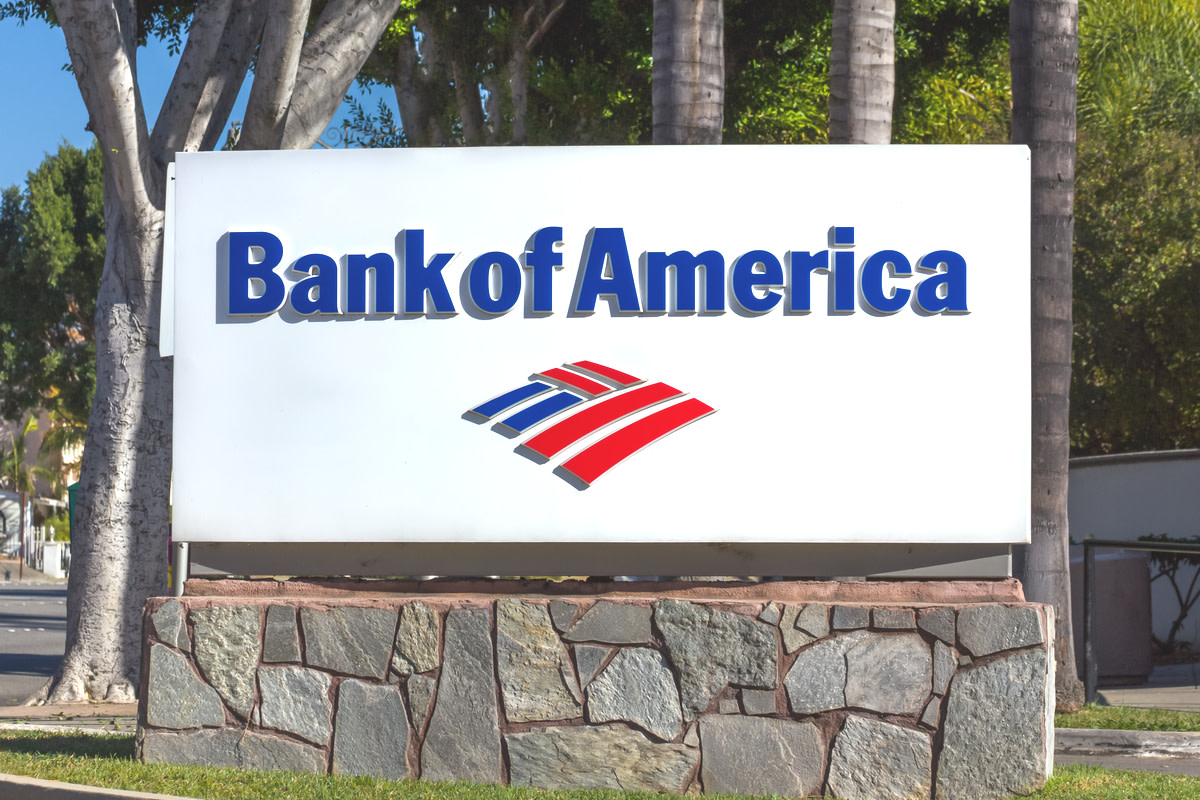 Bank of America sign and logo