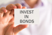 a card with INVEST IN BONDS message