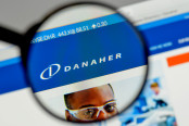 Danaher logo on the website homepage