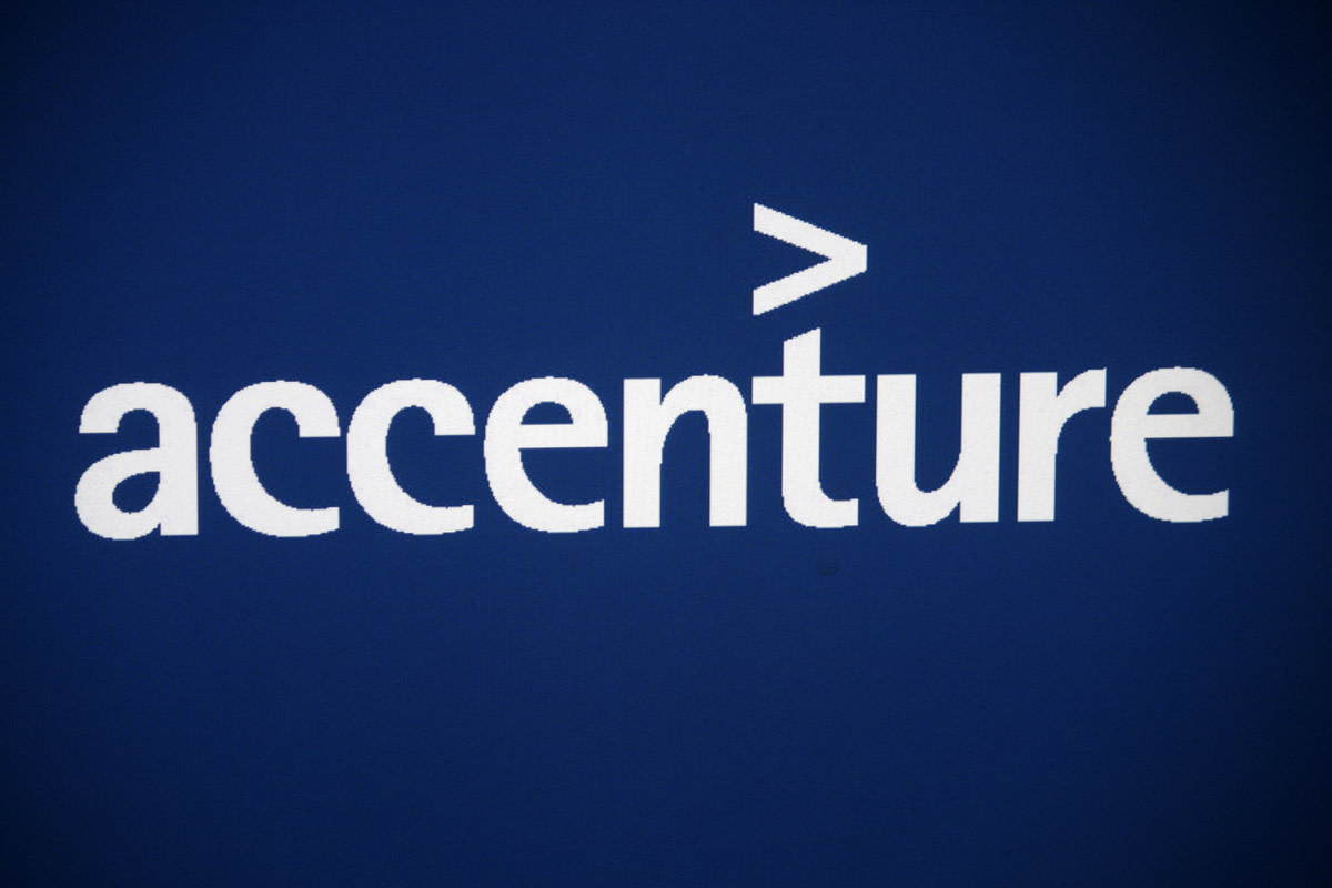 the logo of the brand Accenture