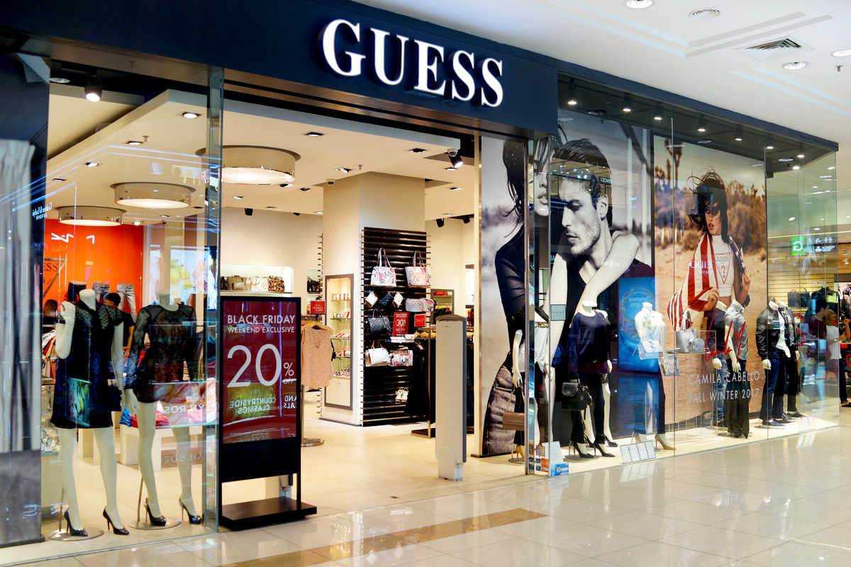 Guess is an American clothing line brand