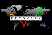Global economy recovery concept