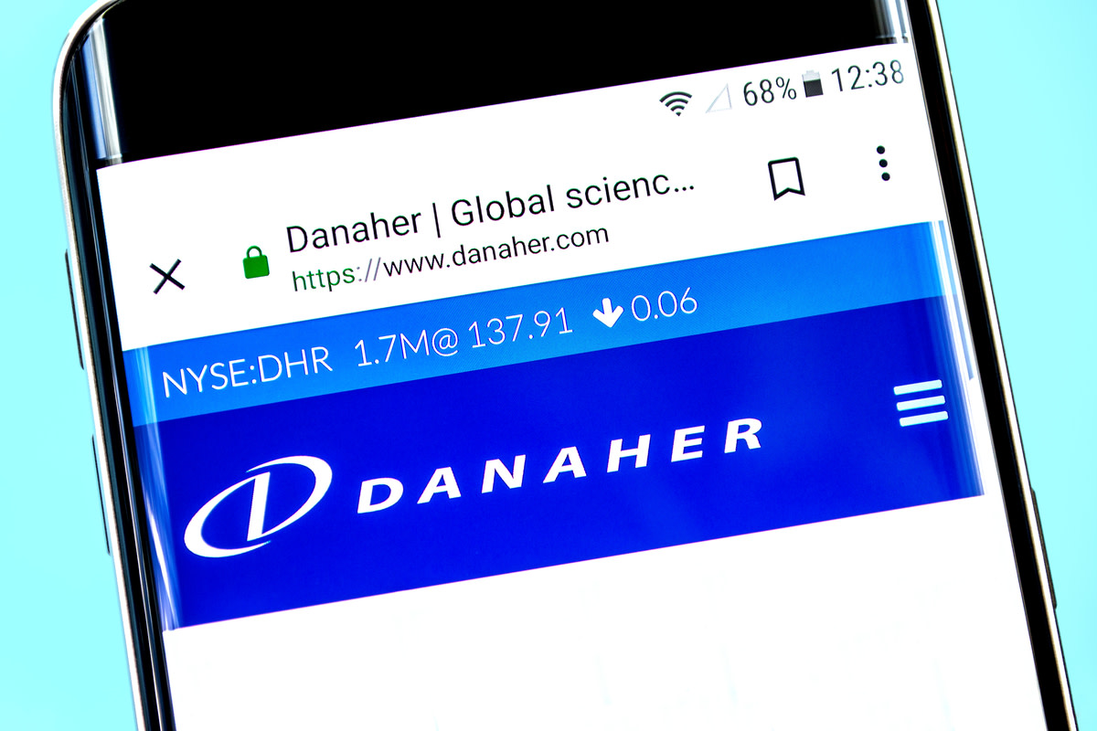 Danaher website homepage
