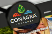 Conagra Brands logo on the website homepage