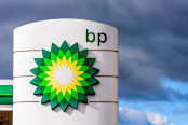 British Petroleum logo sign